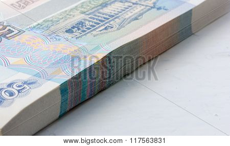 Stack of new paper money