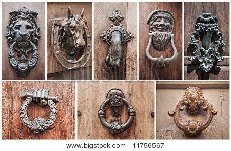 Doorknocker Collage.
