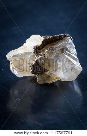 Close Up Of A Small Quartz Crystal