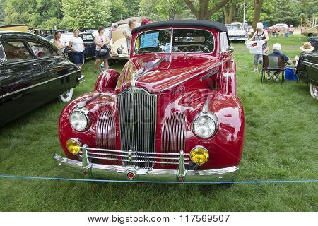 1941 Packard Red Car Front View