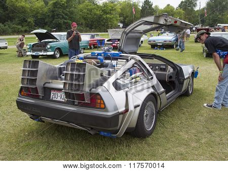 Delorean Dmc-12 Back To The Future Car Model Side View