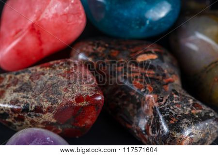 Polished Stones In A Pile