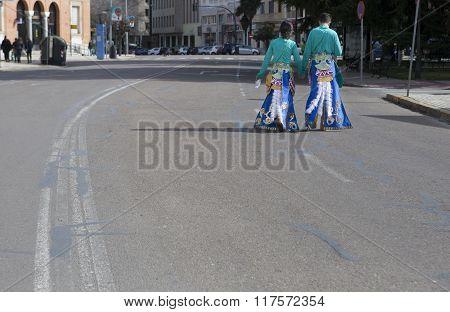 Badajoz Carnival 2016. Troupe Parade