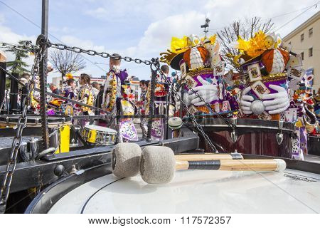 Badajoz Carnival 2016. Troupe Percussions