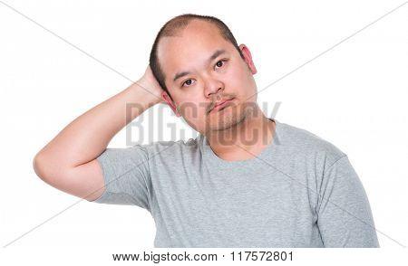 Man feeling confused