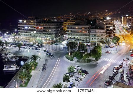 Amazing Panoramic night photo of Kavala, Greece