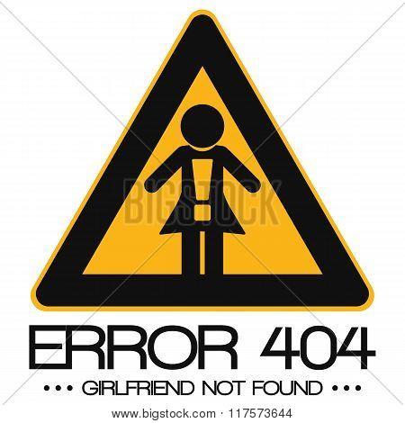 Icon Illustration Vector Graphic Error 404 Girlfriend Not Found