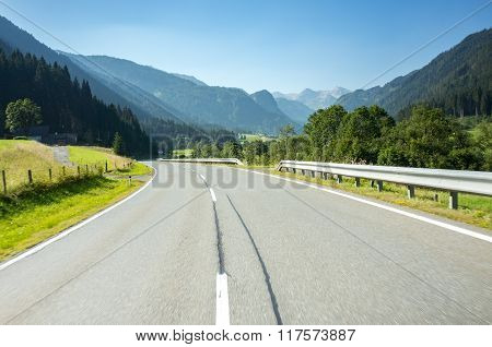 Route In Mountains