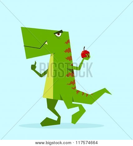 Green Dino in Action
