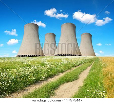 Cooling towers of a nuclear power plant.