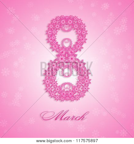 Women Day pink background