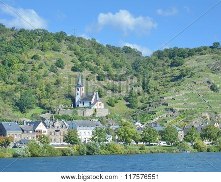 Wine Village of Hatzenport at Mosel River in Mosel Valley, Rhineland-Palatinate, Germany