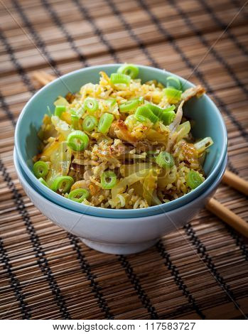 Fried Rice with chicken meat and vegetable - Chinese cuisine