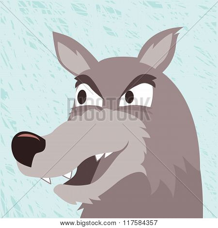 Wolf close up vector
