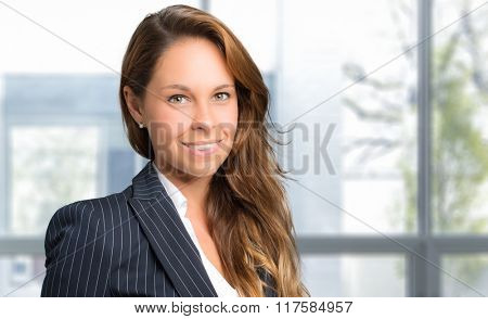 Charming young secretary portrait