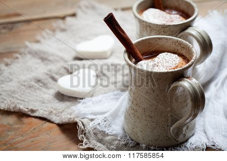 Hot Chocolate with heart shape marshmallow