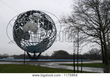 The Unisphere In Flushing Meadows Park