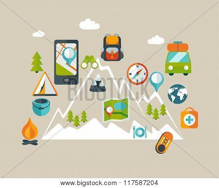 Hiking info graphic.