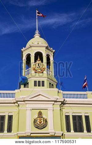 Thailand Asia    Bangkok    Temple Flag