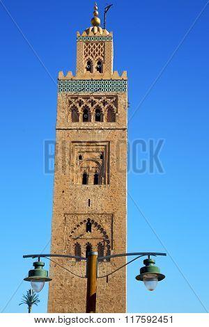 Street Lamp     Maroc Africa  Minaret Religion And