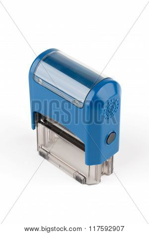 Blue Rectangular Automatic Seal