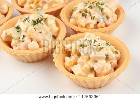 Three Tartlets With Salad