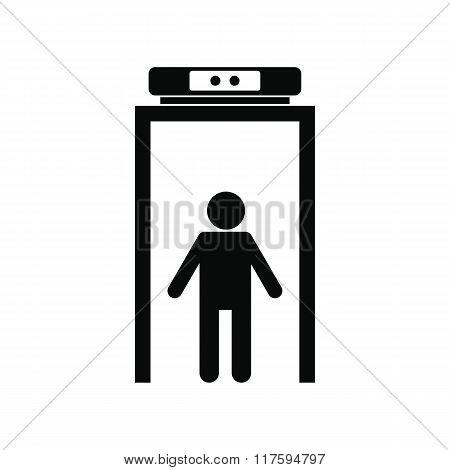 Metal detector black simple icon