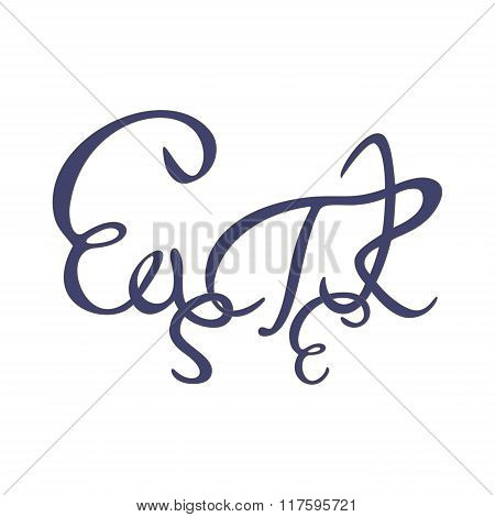 Hand-written word saying Easter