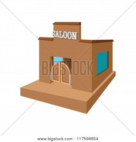 Western saloon cartoon icon
