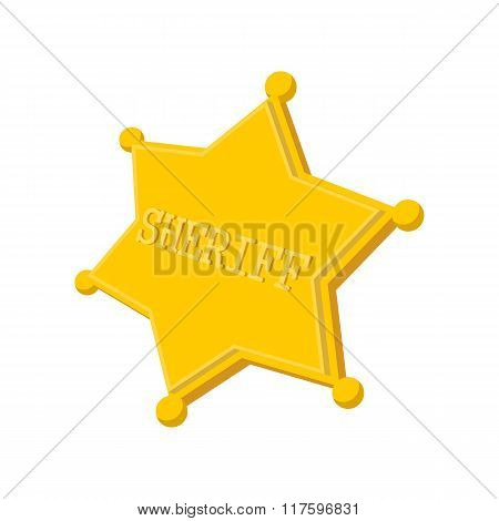 Sheriff star cartoon icon