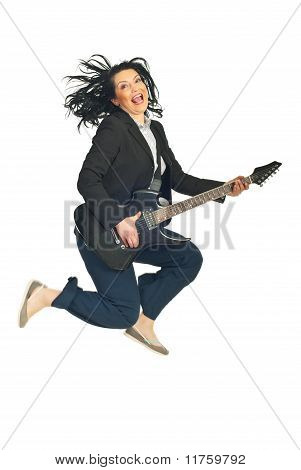 Energy Business  Woman With Guitar