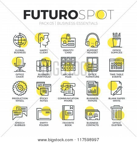 Business Office Futuro Spot Icons
