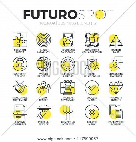 Business Services Futuro Spot Icons