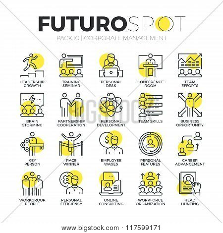 Business Leadership Futuro Spot Icons