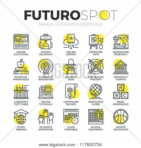 Education First Futuro Spot Icons