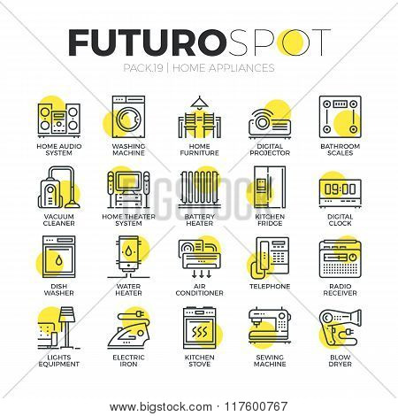 Household Appliances Futuro Spot Icons