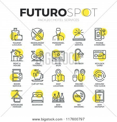 Hotel Services Futuro Spot Icons