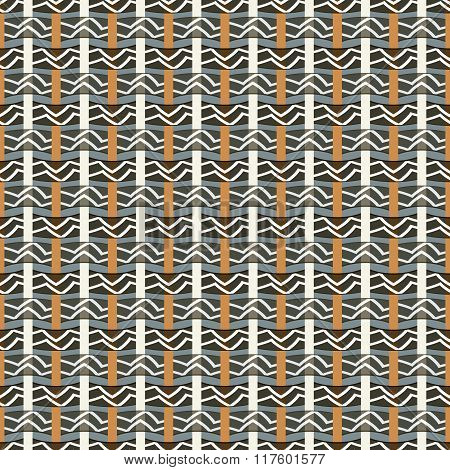 Stylish Seamless Pattern With Ethnic Motifs