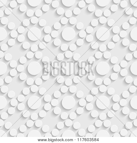 Seamless Flower Pattern. Vector Soft Background. Regular White Texture
