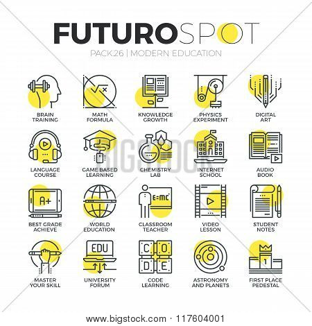 Internet Education Futuro Spot Icons