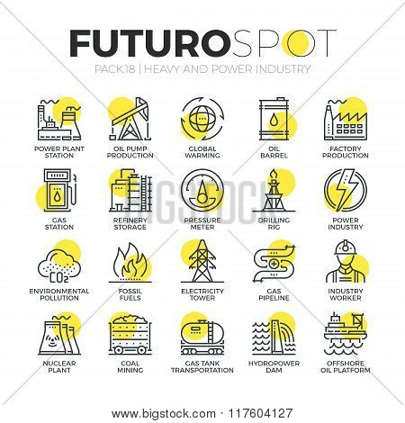 Resource Mining Futuro Spot Icons