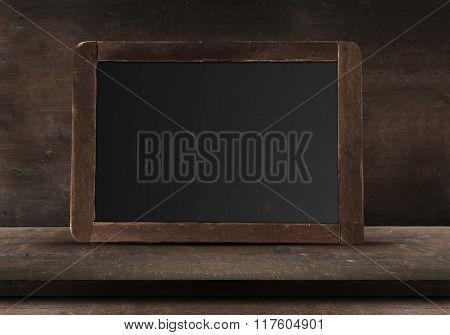 Empty Wood chalk board