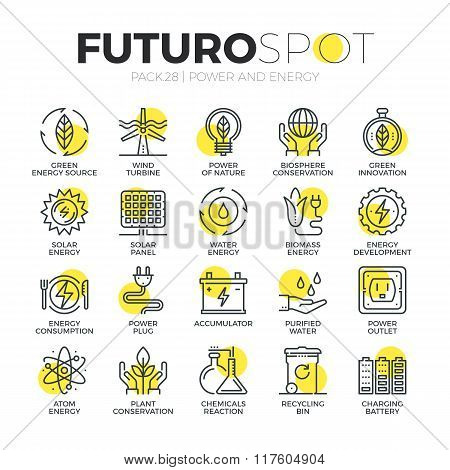 Sustainable Energy Futuro Spot Icons