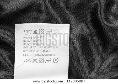 Washing Instructions Label