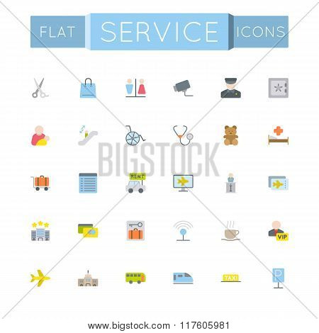 Vector Flat Service Icons