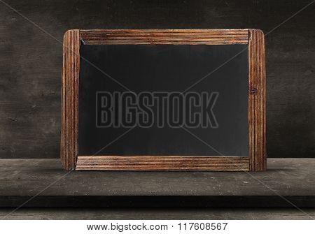 Empty Wood chalk board