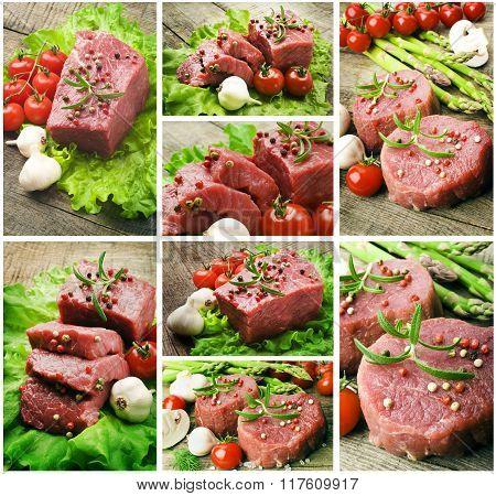Juicy Organic Grilled Steak set