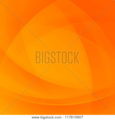 Orange smooth twist light lines vector background. Good for Brochure, Presentation, Advertising Banner, Flyer or Poster design. Abstract Background, Waves Background, Abstract Background Vector.