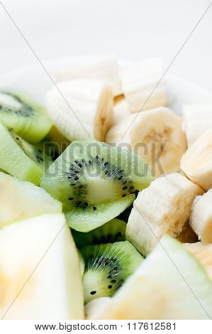Fresh Fruit In White Plate