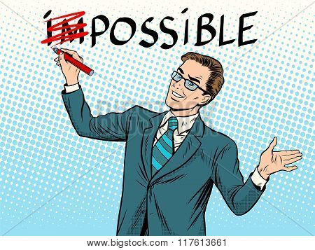 Impossible possible business concept